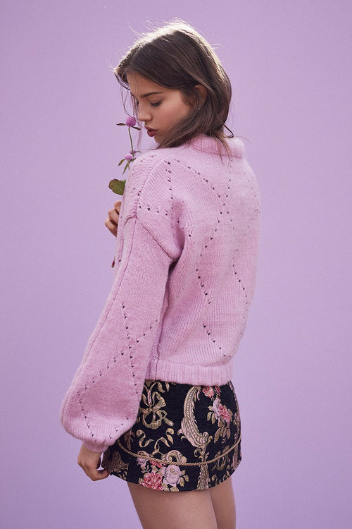 For Love and Lemons Mia Pointelle Sweater