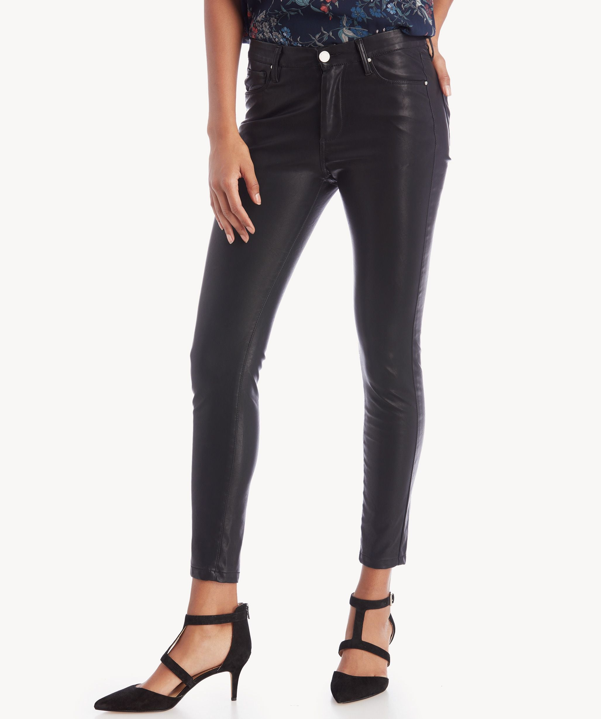 Blank NYC Faux Leather Pants Boom Bap