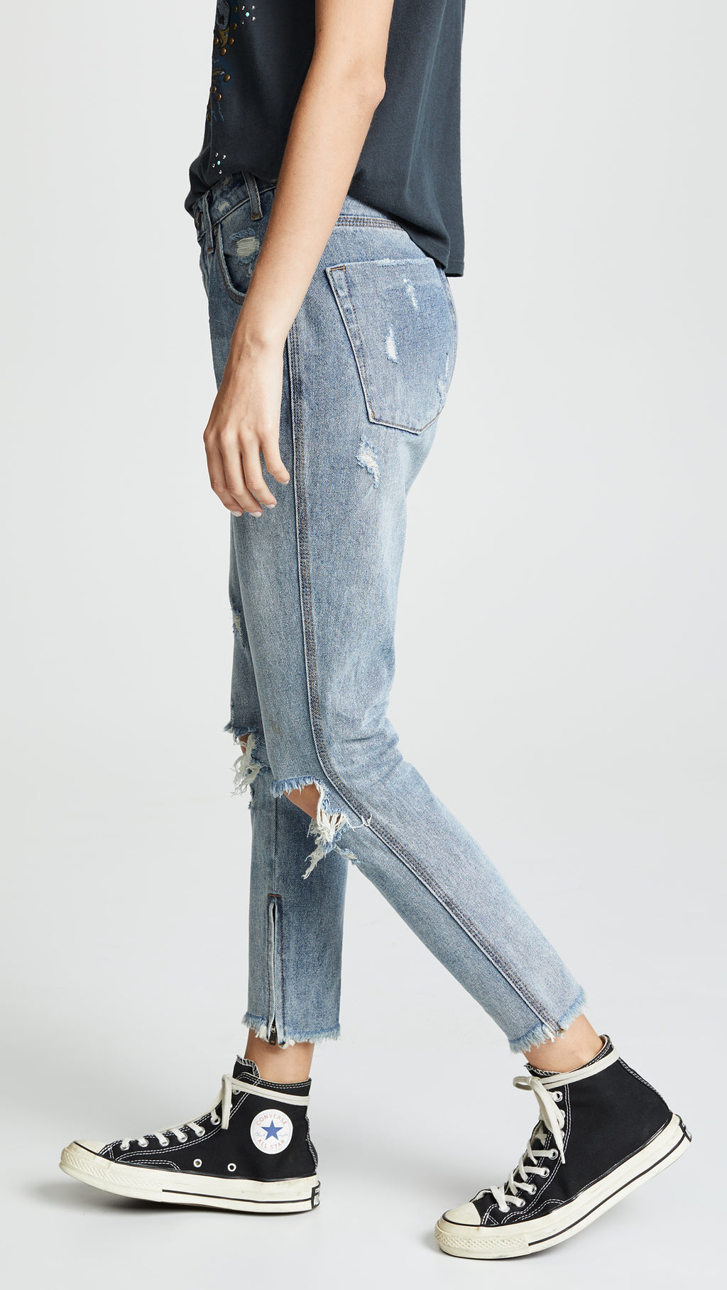 One Teaspoon Storm Boy Freebirds High Waist Skinny Jeans
