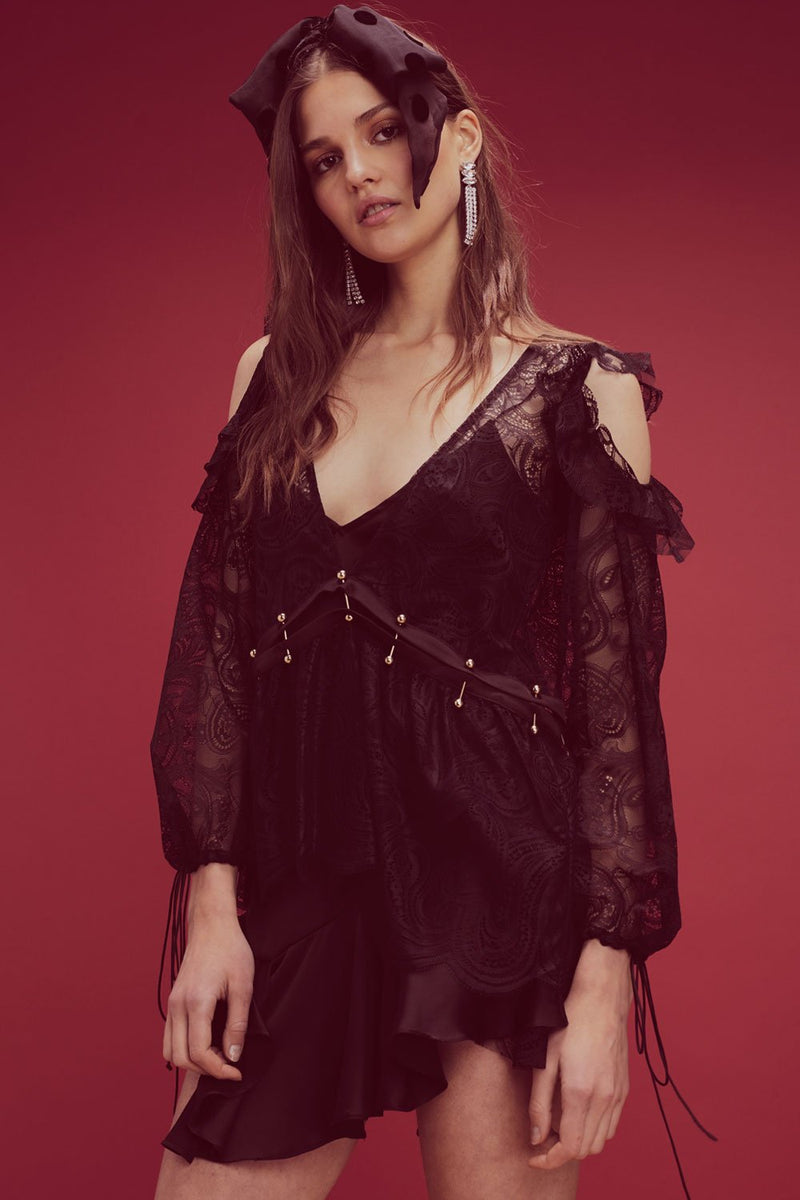 For Love and Lemons Sabina Layered Mini Dress