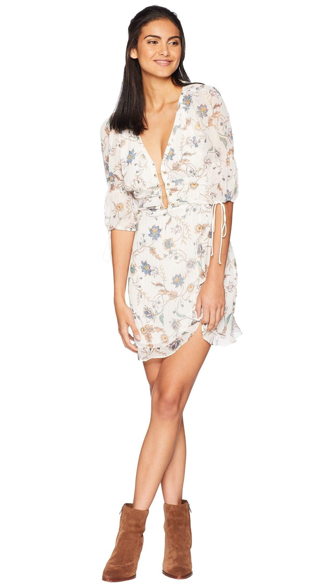 967c1868a32 For Love and Lemons Elyse Flirty Mini Dress – Bliss Bandits