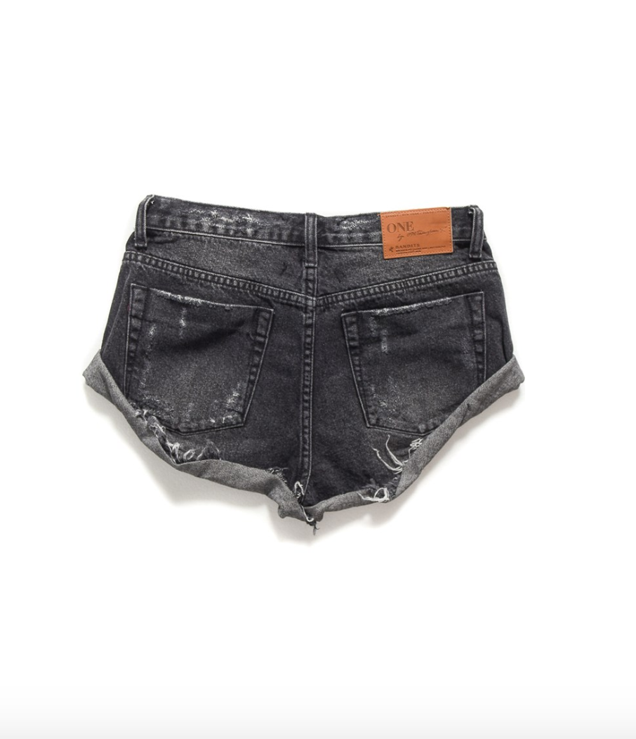 One Teaspoon Black Sea Bandits Denim Shorts