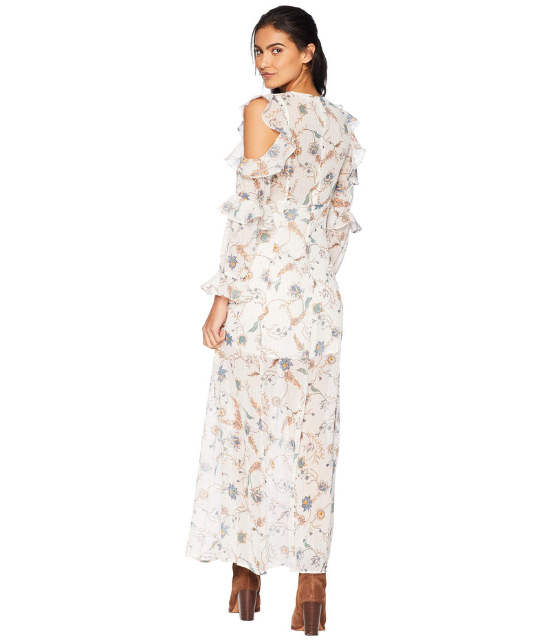 For Love and Lemons Elyse Ruffled Maxi Dress