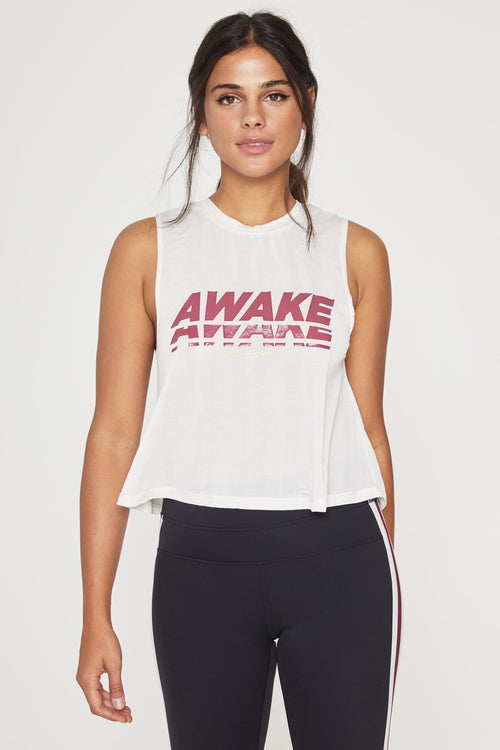Spiritual Gangster Awake Active Crop Tank
