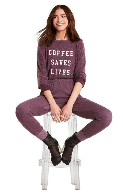 Wildfox Coffee Saves Lives Baggy Beach Jumper