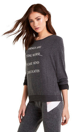 Wildfox Send Chocolates Baggy Beach Jumper Sweater