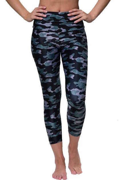 Onzie Distressed Camo Midi Leggings
