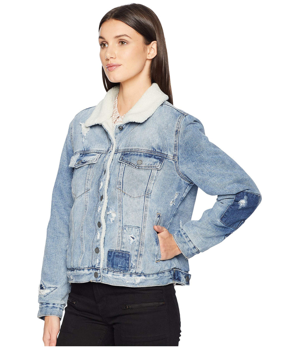 Blank NYC Denim and Sherpa Trucker Jacket