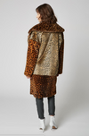 Blank Party Animal Faux Fur Leopard Jacket Coat