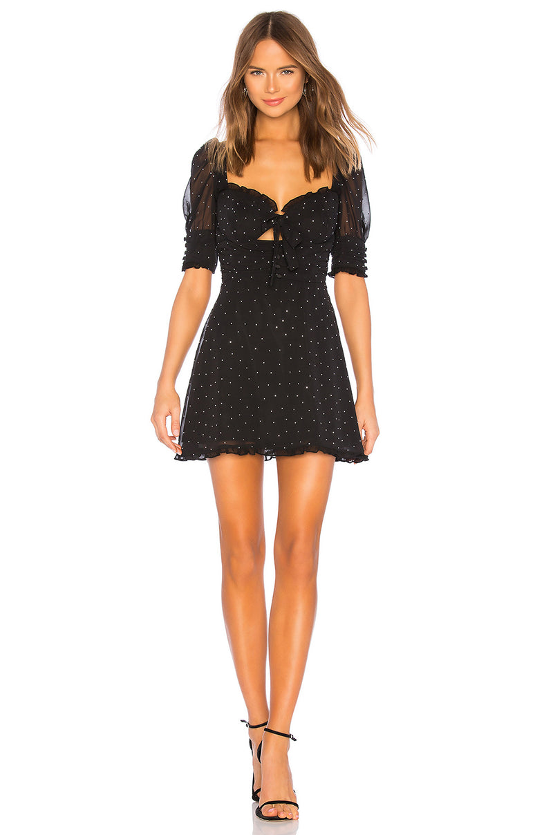 For Love and Lemons Lucky Dice Mini Dress