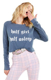 Wildfox Half Asleep Beach House Crop Top