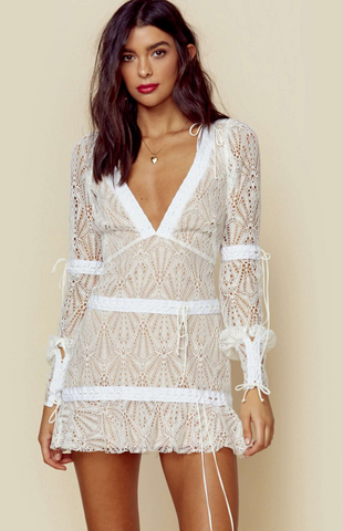 For Love and Lemons Lemonade Elle Lace One Piece