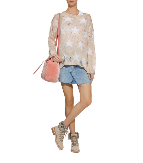 Wildfox Seeing Stars Lennon Sweater Vintage Lace