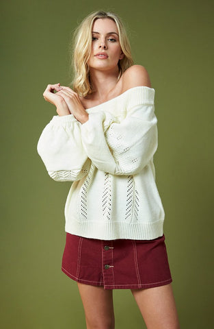 Wildfox V Neck Yarn Oracle Sweater