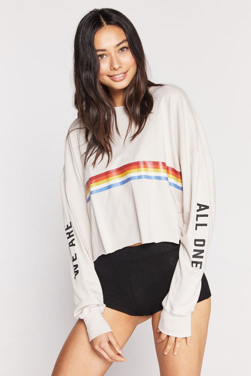 Spiritual Gangster We Are All One Oversized Crop Long Sleeve