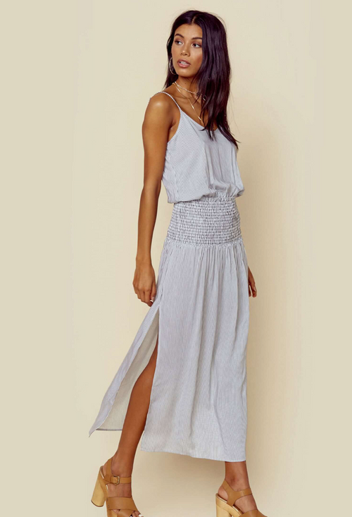 Blue Life Sunset Slit Maxi Dress