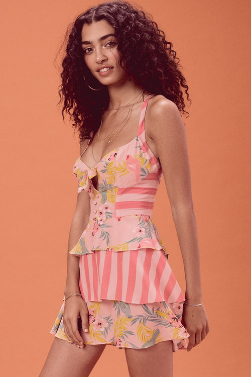 For Love and Lemons Antigua Mini Dress