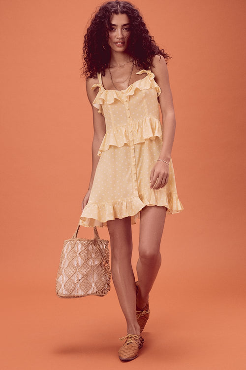 For Love and Lemons Limoncello Mini Dress