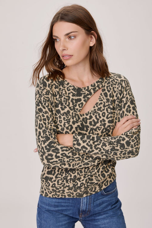 LNA Brushed Leopard Phased Top