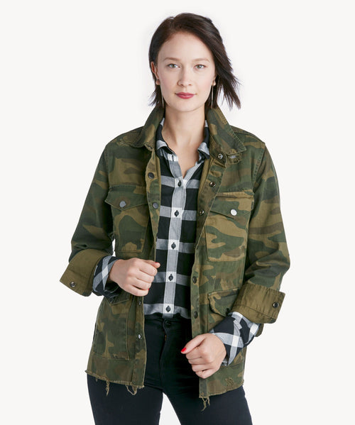 Blank NYC Army Brat Shirt Jacket