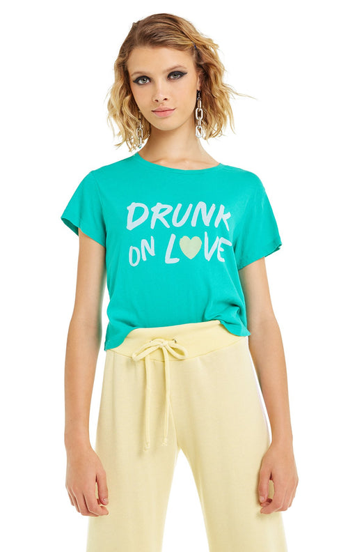 Wildfox Drunk on Love Baby Tee Shirt