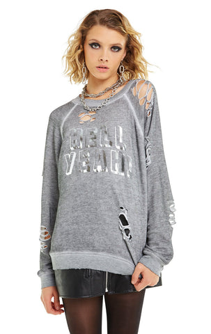 Wildfox Stellar Be Secretly Incredible Ripped Tee