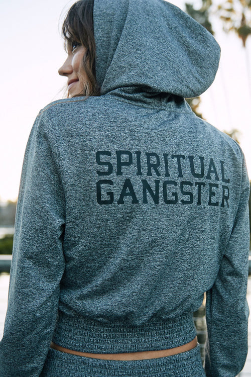 Spiritual Gangster Inner Light Crop Hoodie Sweater