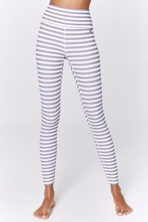 Spiritual Gangster Striped Perfect 7/8 Legging