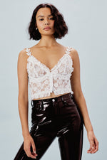For Love and Lemons Rosette Cami Crop Top