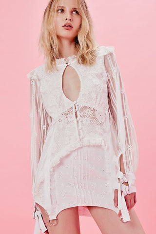 For Love and Lemons Charlotte Lace Blouse Top
