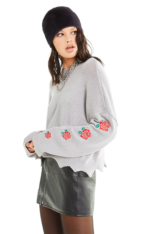 Wildfox Palmetto Roses Sweater