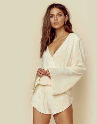 Amuse Society Savanhah Long Sleeve One Piece Suit