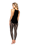 Strut This Teagan 7/8 Taupe Stripe Leggings
