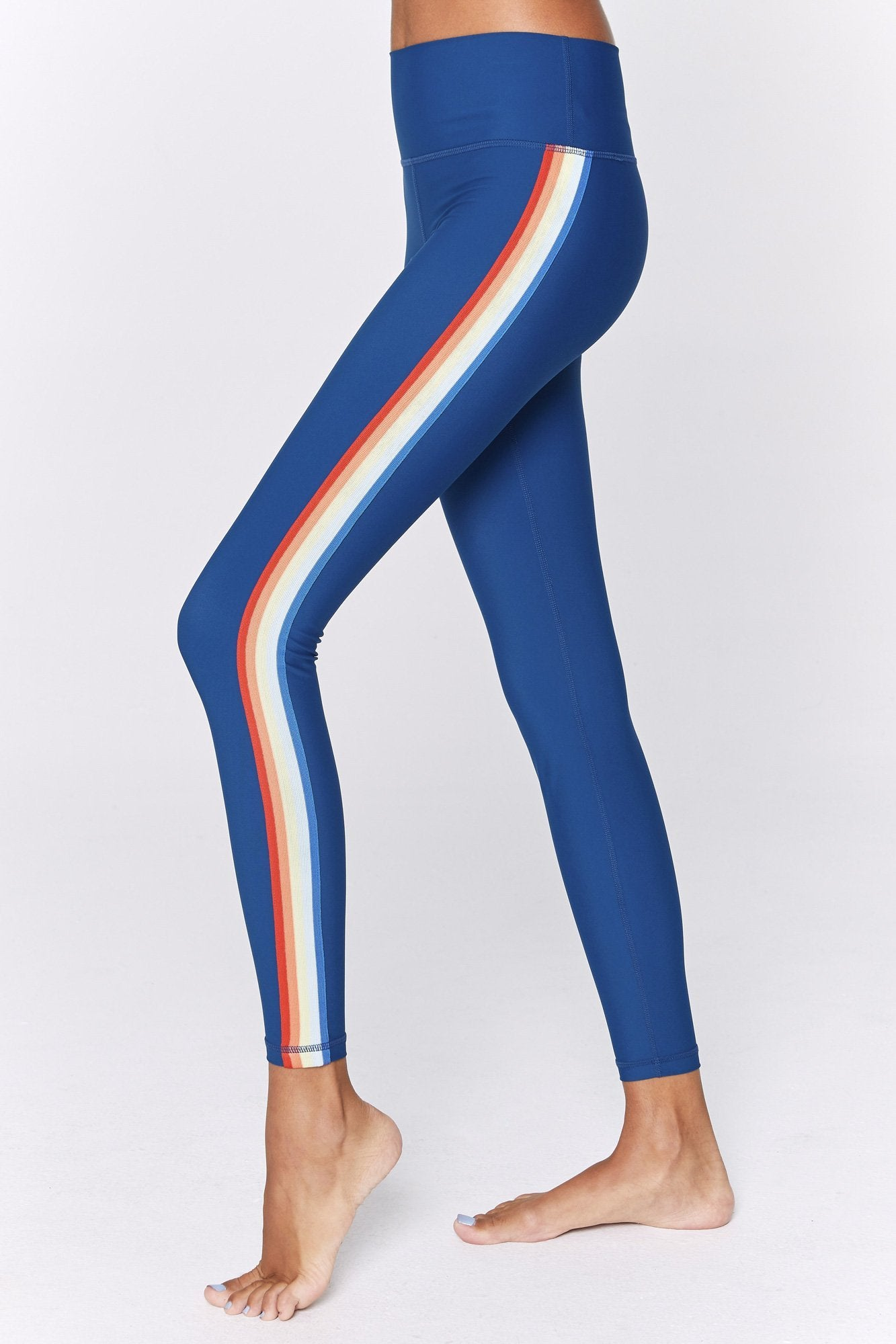 ba5810f7b61ac Spiritual Gangster 7/8 Rainbow Stripe Active Legging – Bliss Bandits