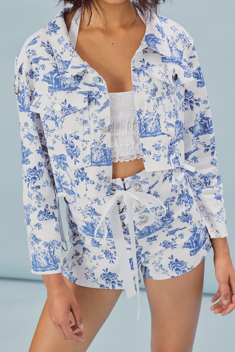 For Love and Lemons Delphine Cropped Jacket