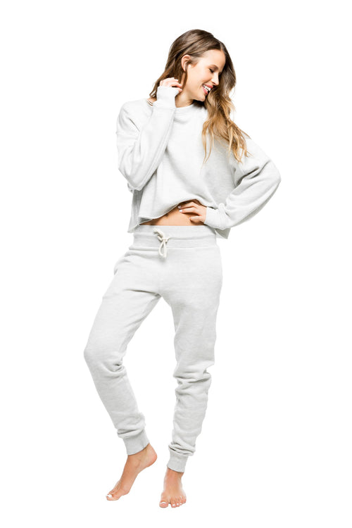 Strut This Sonoma Crop Sweatshirt Grey