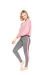 Strut This Sonoma Crop Sweatshirt Pink Chalk