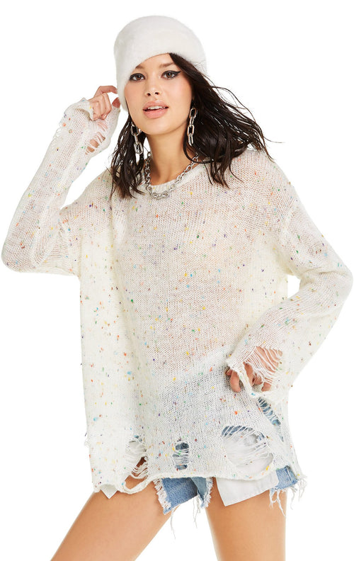 Wildfox Lennon Sweater Confetti