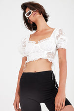 For Love and Lemons Indio Lace Crop Top
