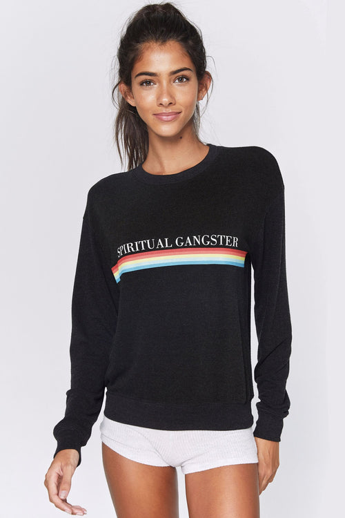 Spiritual Gangster Sg Rainbow Crew Neck Savasana Sweater
