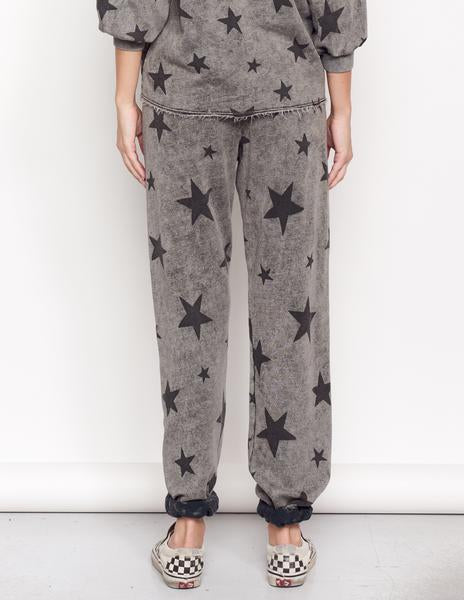 SUNDRY Acid Wash Gray Stars Classic Sweatpants