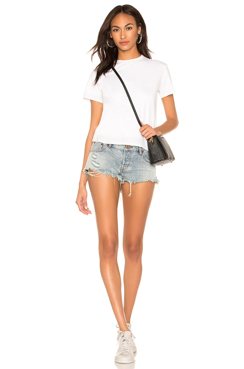 One Teaspoon Storm Buoy Bonitas Low Waist Denim Shorts