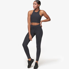 Strut This Teagan Legging Black Pinstripe