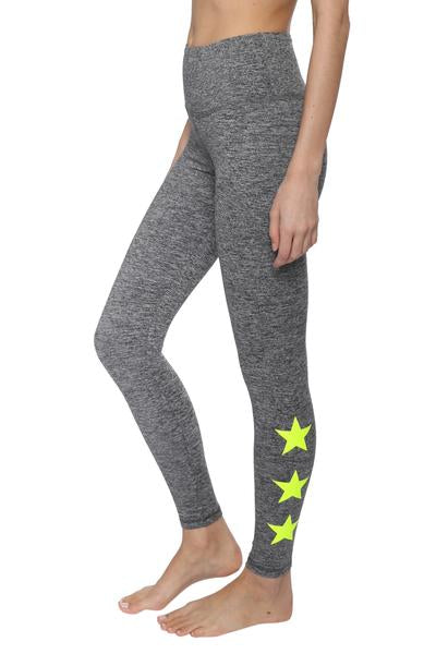 d0ddd631a9515a Strut This Star Ankle Leggings Moss/Neon Yellow – Bliss Bandits