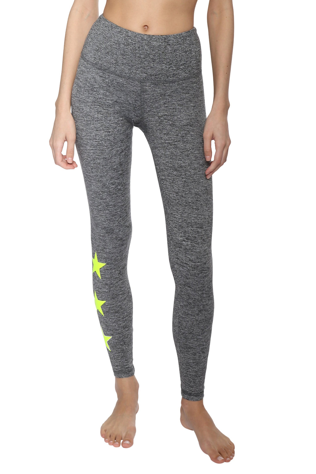 Strut This Star Ankle Leggings Moss/Neon Yellow