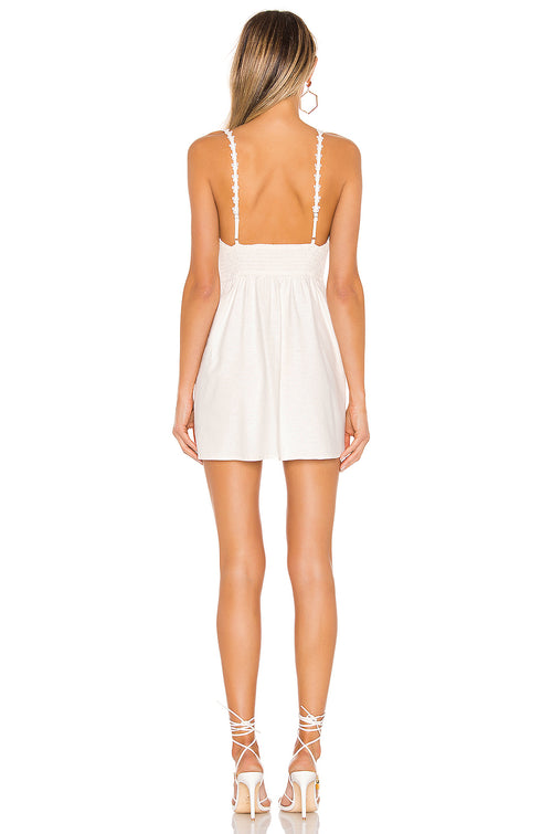 For Love and Lemons Macaroon Button Mini Dress