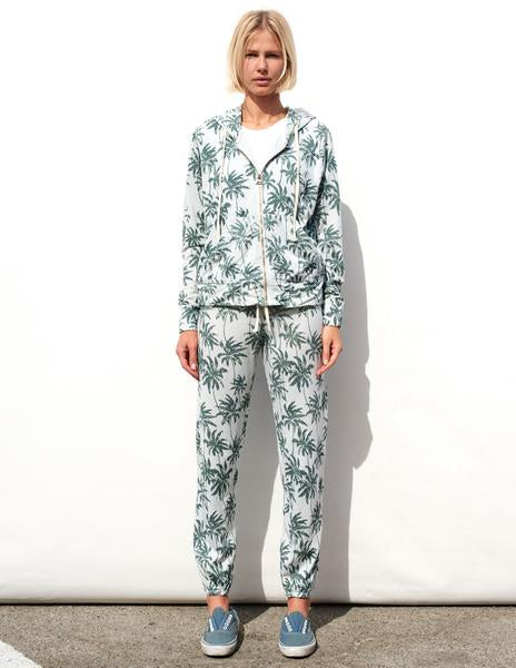 Sundry Palm Trees Zip Hoodie Sweater Dew