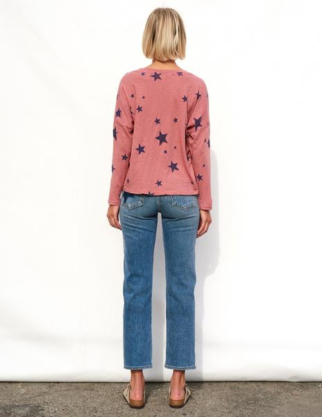 Sundry Stars Easy Long Sleeve Top Faded Rose