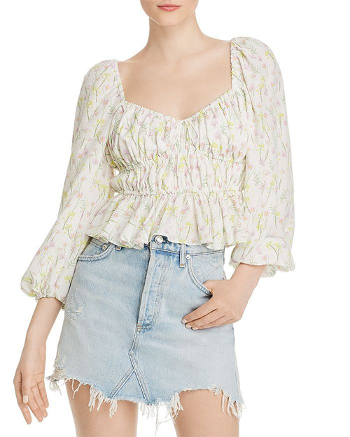 For Love and Lemons Strudel Floral Top