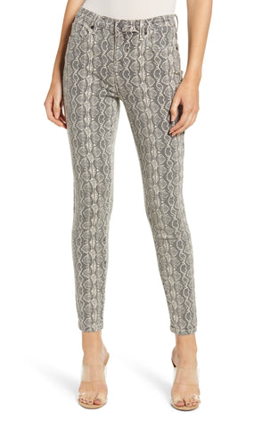 David Lerner Gemma Embroidered Mid Rise Straight Leg Skimmer Pant